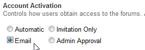 Account Activation