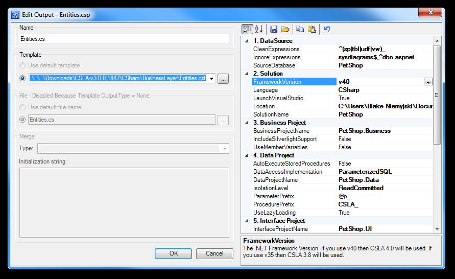 Edit Output - Entities.csp