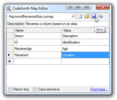 Keyword Rename Alias Generator Map Editor