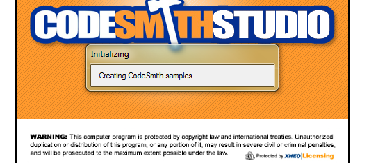 CodeSmith 4.1 Extract Samples Progress