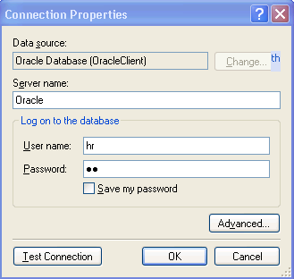 Oracle Connection Properties