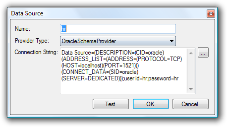 New Oracle Data Source
