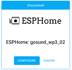 ESPHome Device Discovered
