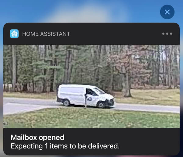 Mail Delivered Notification