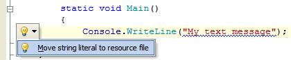 Move string literal to resource file